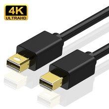 Kabel 4K wysokiej jakości Mini DP do Mini DP męski na męski Displayport do kabla Macbook/Mac Lenovo Dell Displayport