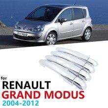 Voor Renault Grand Modus 2004 ~ 2012 Chrome Exterieur Set 4 Deurgreep Cover Auto Accessoires Stickers 2005 2006 2007 2008 2009