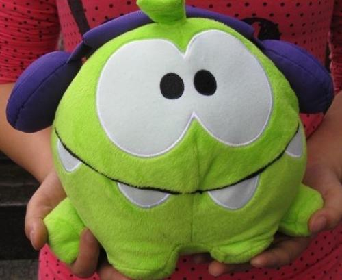1pc 20cm Hot Game Cartoon Cut The Rope Om Nom Green Frog Stuffed Animal Plush Toys Kids Toys Children Collection Gift