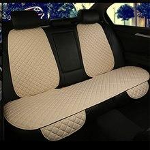 Housses de siège de voiture universelles en lin, couvre-siège de voiture, couvre-siège, tapis, avec dossier, pour les quatre saisons, intérieur