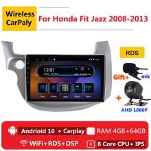 2 Din 8 Android 10 Phát Thanh Xe Hơi Tự Động Stereo Cho Honda Phù Hợp Với Nhạc Jazz 2 GG 2008 2010 2012 2013 định Vị GPS DVD Đa Phương Tiện