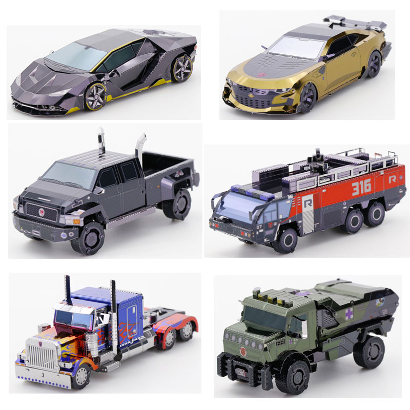 Art Model MU 3D Metal Puzzle Mini Car Model Kits DIY 3D Laser Cut Assemble Jigsaw Toys Desktop Decoration GIFT For Audit