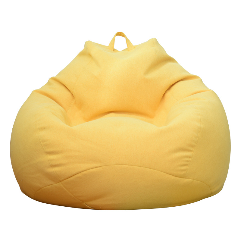 Lazy BeanBag Sofa Cover Chairs Cover without Filler Linen Cloth Lounger Seat Bean Bag Asiento Couch Tatami Living Room Furniture 4