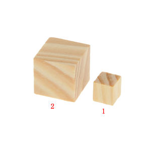 Tiles 50Pcs Wooden Blank Cubes Wood Craft Kids Games Toy 10*10mm