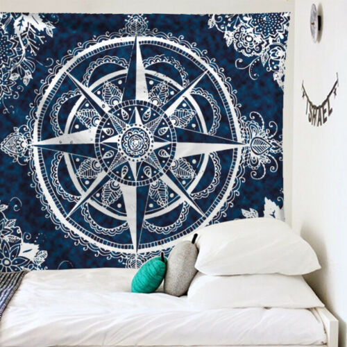 Tarot Card Tapestry Wall Hanging Astrology Divination Polyester Mandala Pattern Blanket Tapestry Home Decor Bedspread Beach Mat