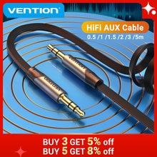 Vention Aux kablosu Jack 3.5mm ses erkek kablosu 3.5 Jack kablosu Xiaomi Samsung için araba kulaklık MP3/4 hoparlör kablosu
