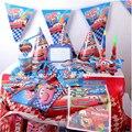 115 шт. набор мультфильм Дети сувениры Disney Lightning McQueen автомобили тематическая вечеринка на день рождения Baby Shower скатерть баннеры для вечерино...