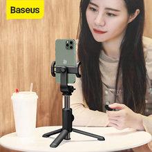 Baseus-trípode para palo de selfi, monopié para iPhone, Xiaomi, Samsung, teléfono inteligente, obturador inalámbrico por Bluetooth, minitrípode remoto