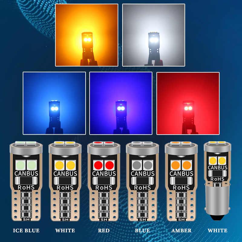 10X T10 led W5W BA9S 車 can 194 501 6SMD 3030 led 計器灯電球ウェッジプレートドームライトエラーなし 12 v