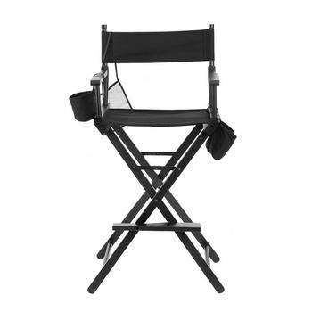 Professional Makeup Artist Directors Chair Wood Lightweight Black Foldable Chair 1