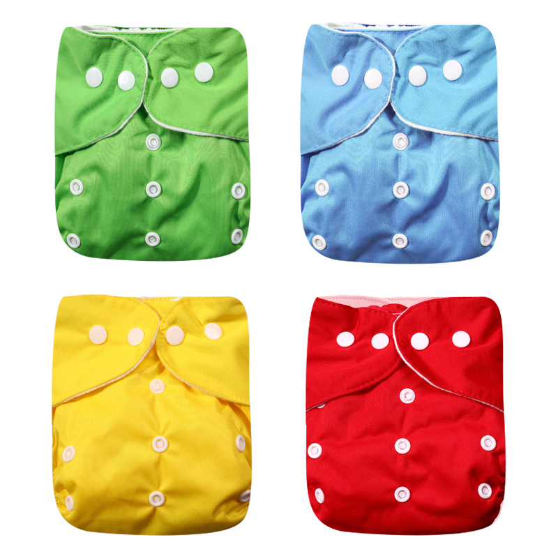 2020 New 4pcs/set Washable Eco-Friendly Cloth Diaper Adjustable Nappy Reusable Cloth Diapers Fit 0-2 Years 3-15kg Baby