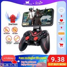 Contrôleur officiel de jeu dapplication de soutien de manette de Bluetooth sans fil de grenouille de données pour le téléphone intelligent dandroid diphone pour la boîte de TV de PC de PS3