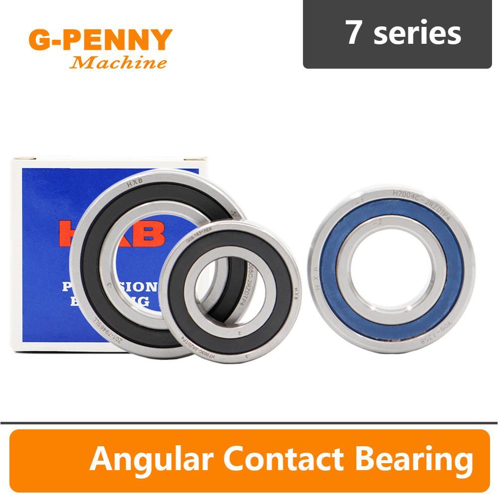 P4 7 series Angular Contacting bearings 7007,7006,7005,7004,7003,7002 Ceramic ball steel ball bearin