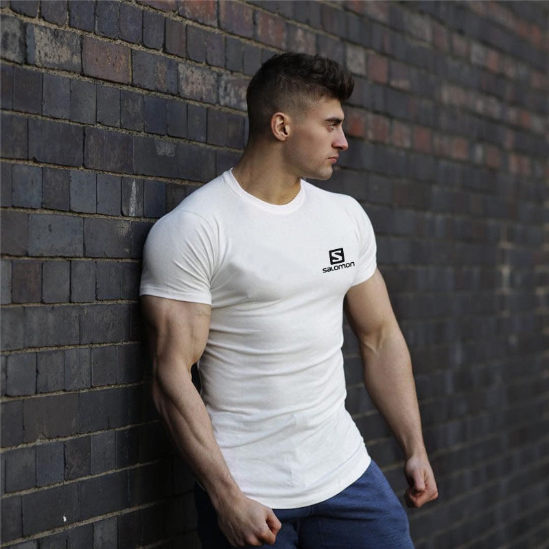 New T-shirt Gym Exercise Short-sleeved Shirt Exercise T-shirt Fitness T-shirt Cotton T-shirt men running