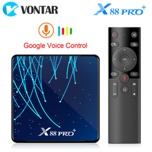 X88 PRO Plus Octa Core Android 9,0 TV Box 4GB 128GB Rockchip RK3368PRO TVBOX 1080p 4K google Stimme Assistent 32GB Set top Box