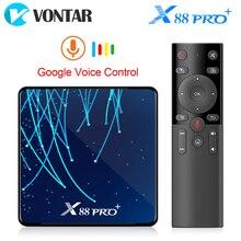 X88 pro plus octa núcleo android 9.0 caixa de tv 4gb 128gb rockchip rk3368pro tvbox 1080p 4k google assistente de voz 32gb conjunto caixa superior