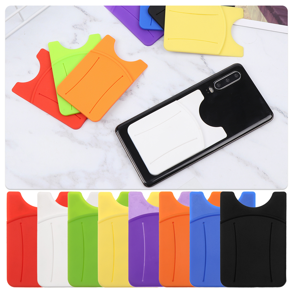 Hot Sale Business Credit Pocket Adhesive Fashion Women Men Cell Phone Holder ID Card Holder Slim Case Sticker Phone Accessories