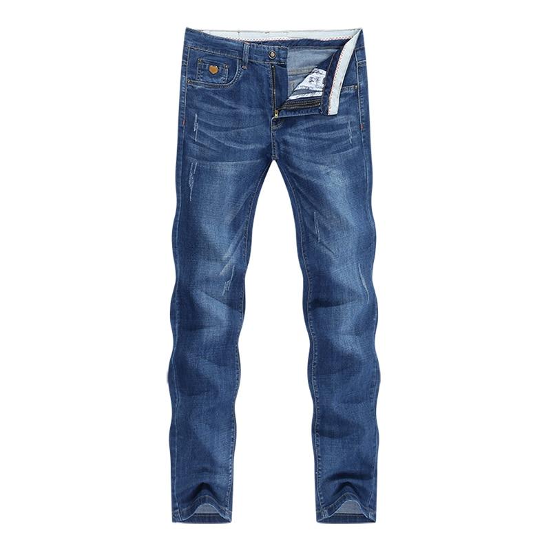 KSTUN Jeans Men Summer 2020 Blue Slim Straight Denim Pants Casual Fashion Men's Trousers Full Length Cowboys Male Jeans Hombre 11