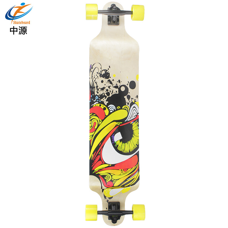 SOURCE Skateboard New Style Long Board Four Wheel Skateboard Double Rocker Maple Board Adult Children Profession Manufacturers D