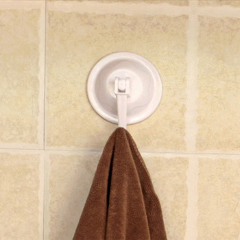 4Pcs 5.5cm Round Strong Vacuum Plastic Holder Suction Cup Seamless Hook Hanging Removable Bathroom