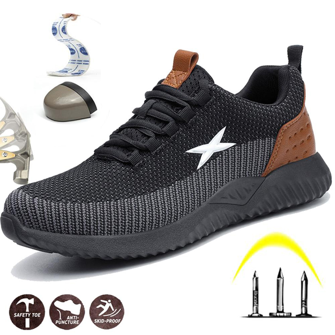 Shoes Boots Steel Toe Cap Casual Work