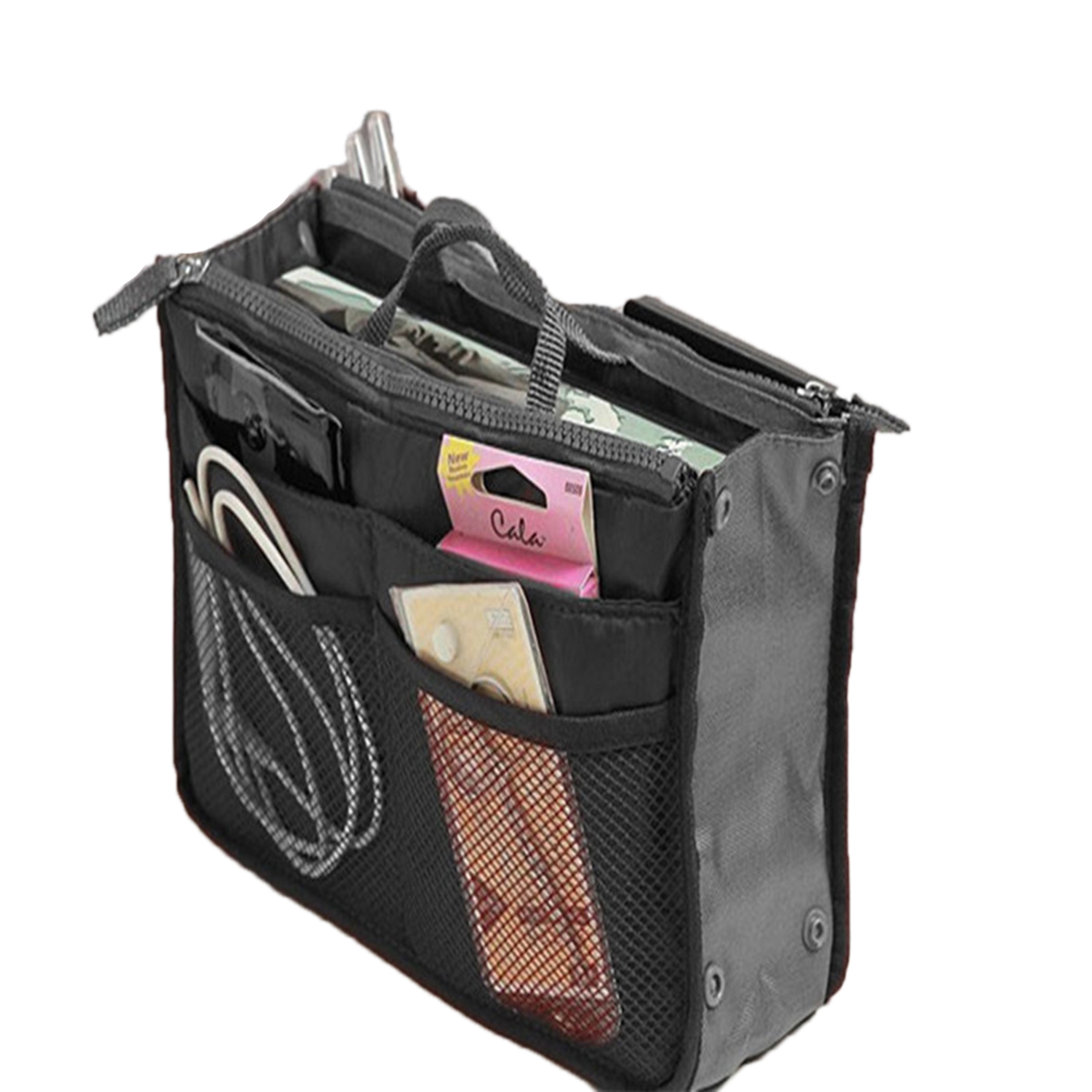 Organizer Handbag Foldable Portable Waterproof Storage Bag Double Zipper Travel Storage Holder Cosmetics Suitcase Pouch