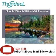 Wysokiej jasności odblaskowe ekran projektora 60 100 120 cal 16:9 tkaniny ekran projekcyjny dla Espon BenQ TD96 domu Beamer