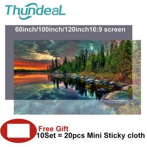 Image 1 - Écran de Projection réfléchissant haute luminosité 60 100 120 pouces 16:9 tissu tissu écran de Projection pour Espon BenQ TD96 Home Beamer