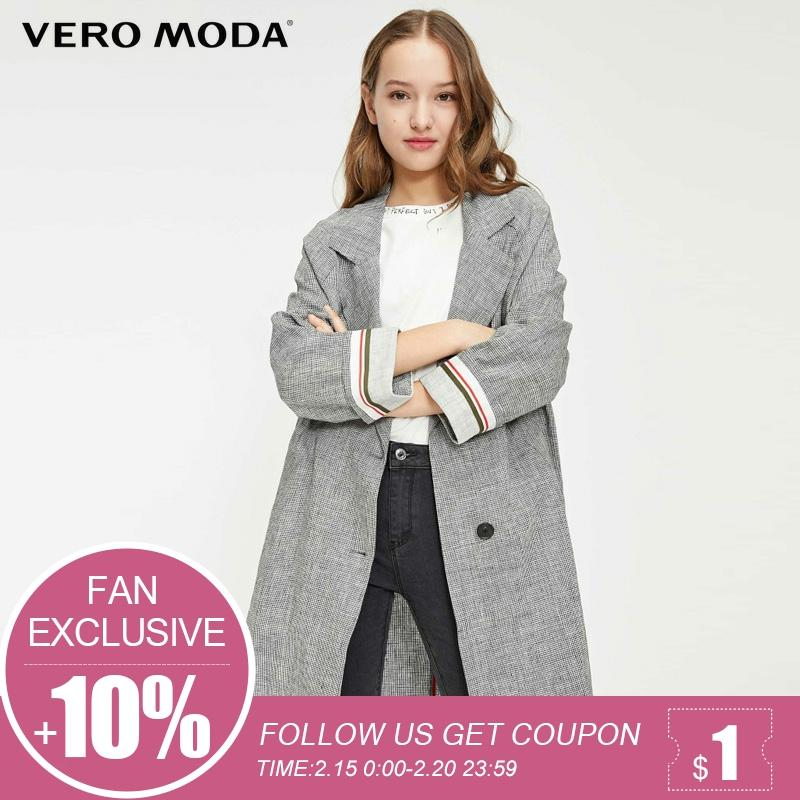 Vero Moda Spring New Women's Lapel Plaid Blazer| 319108531