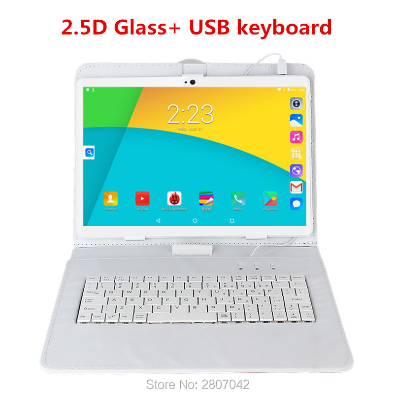 2.5D Glass Screen Android 9.0 OS 10 Inch Tablet Pc Octa Core 6GB RAM 64GB 128GB ROM 3G 4G FDD LTE 1920*1200 IPS Tablets  Gift