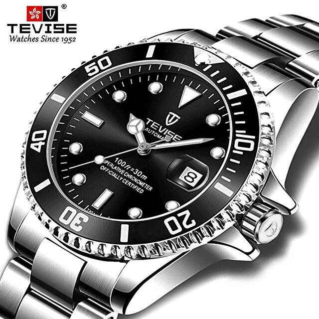 Tevise ブランド男性機械式時計腕時計自動有名なデザインのファッションの高級ゴールド時計 horloges 万年レロジオ masculino