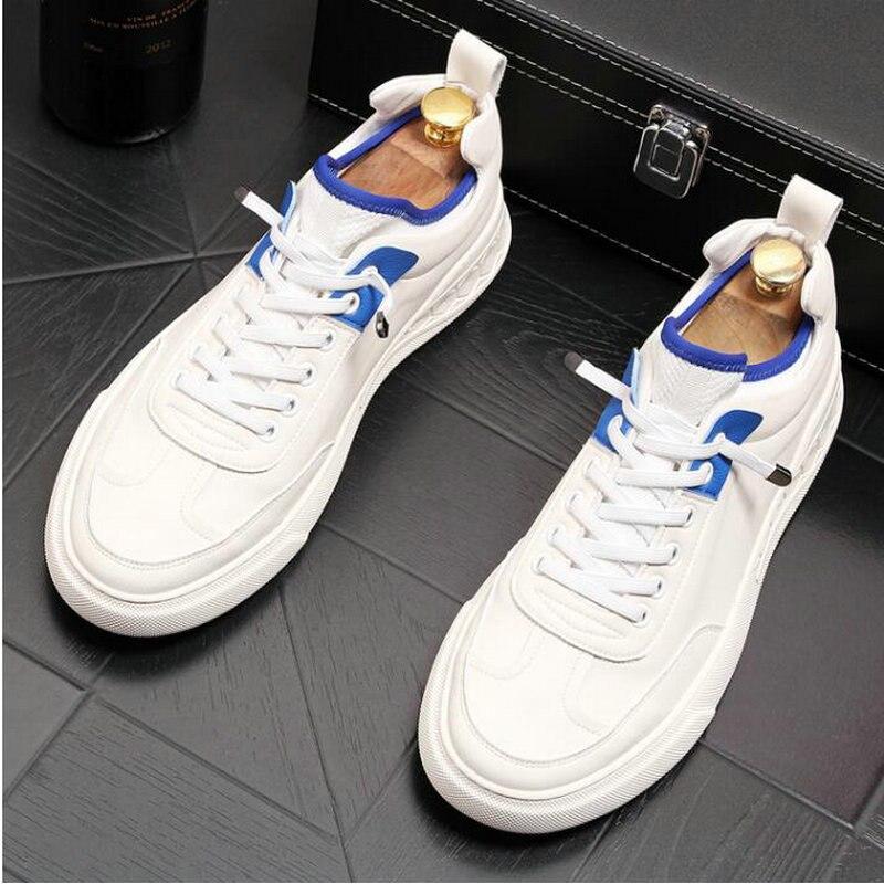 Nouveau haute qualité en cuir véritable blanc bas chaussures plates hommes baskets mocassins décontractés paresseux conduite chaussures A11-46