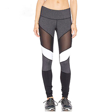CHRLEISURE Mesh Sport Leggings Women High Waist Yoga Pants Breathable Push Up Squat Proof Legging Gym Tights