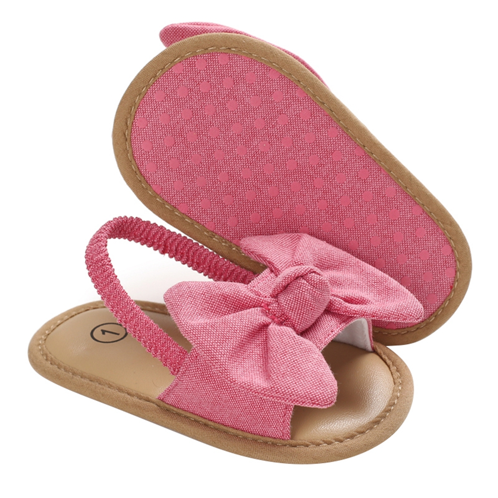 2020 Baby Girls Bow Knot Sandals Cute Summer Soft Sole Flat Princess Shoes Infant Non-Slip First Walkers 6