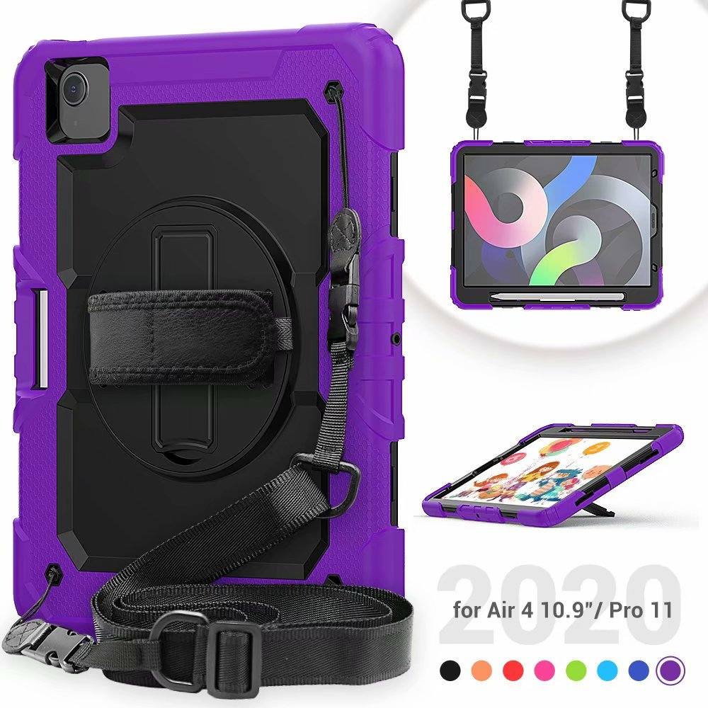 Silicone Kickstand For 4th Protective Film with iPad Screen Heavy Case Duty Generation Air