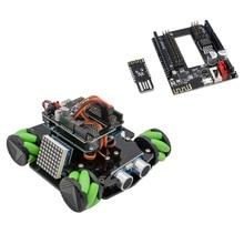 DIY Hindernis Vermeidung Smart Programmierbare Roboter Auto Pädagogisches Lernen Kit mit Mecanum Räder für Arduino UNO-Set C