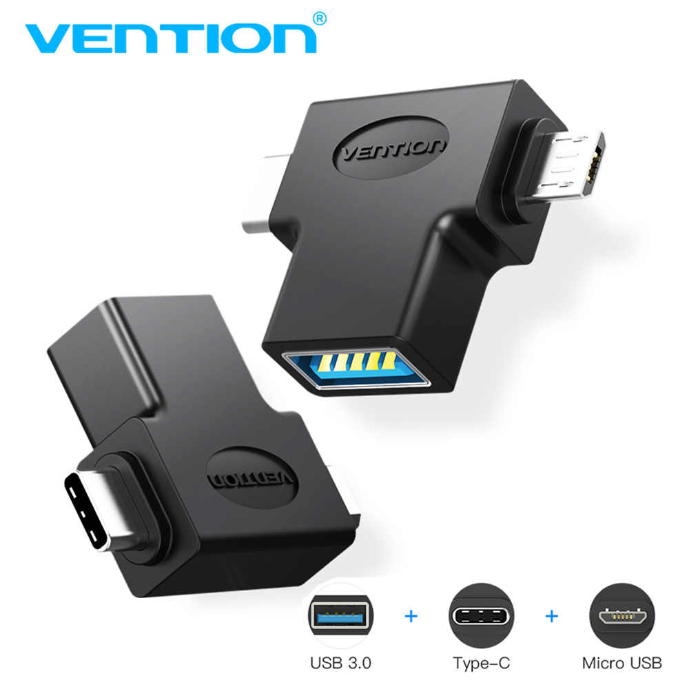 Vention OTG USB 3.0 Type-C ميركو usb محول USB C Mrico usb ذكر إلى أنثى USB3.0 لسامسونج هواوي Letv ماك بوك Matebook