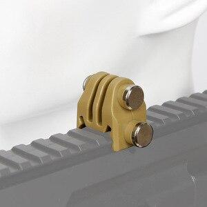 Image 3 - Actie Camera Nylon Rail Mount Vaste Adapter Voor Picatinny Airsoft Rifle Laser Mount Adapter Voor Gopro Eken