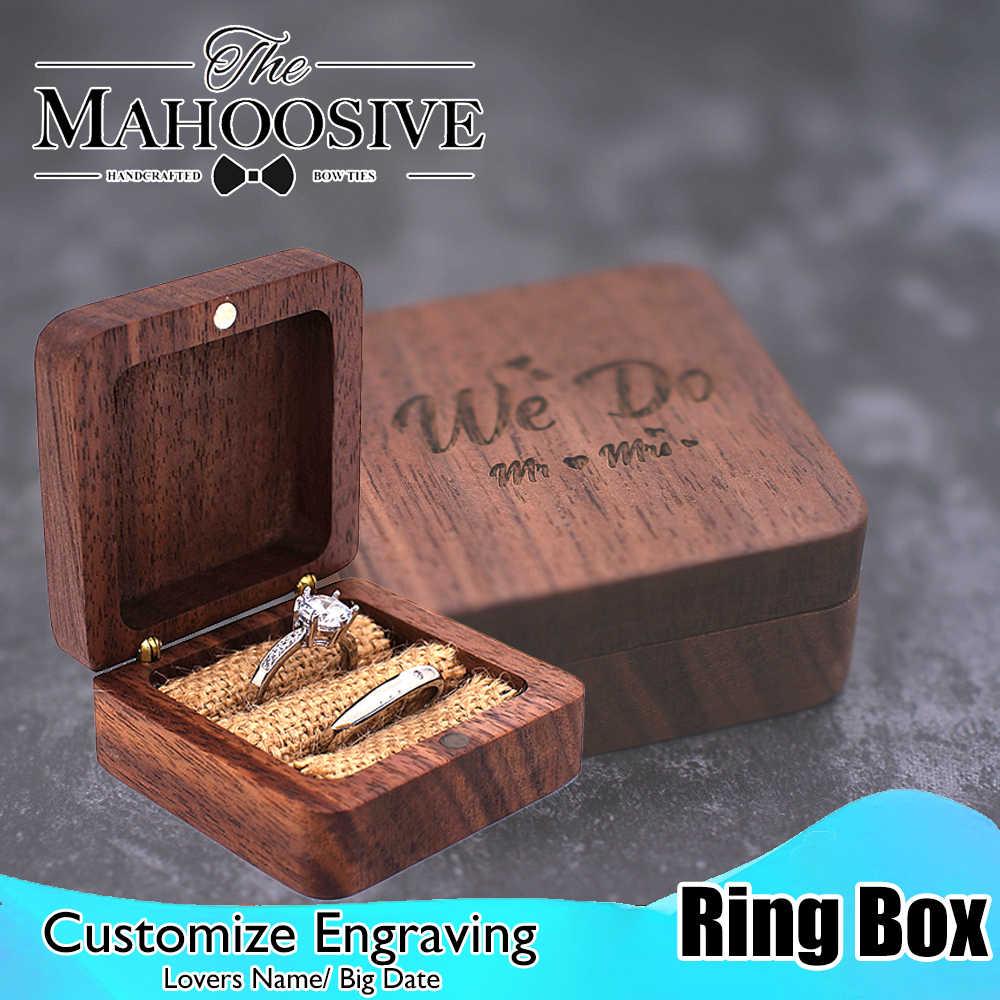 Genuine Quality Wooden Rings Jewellers Display Gift Box Weddings Engagement