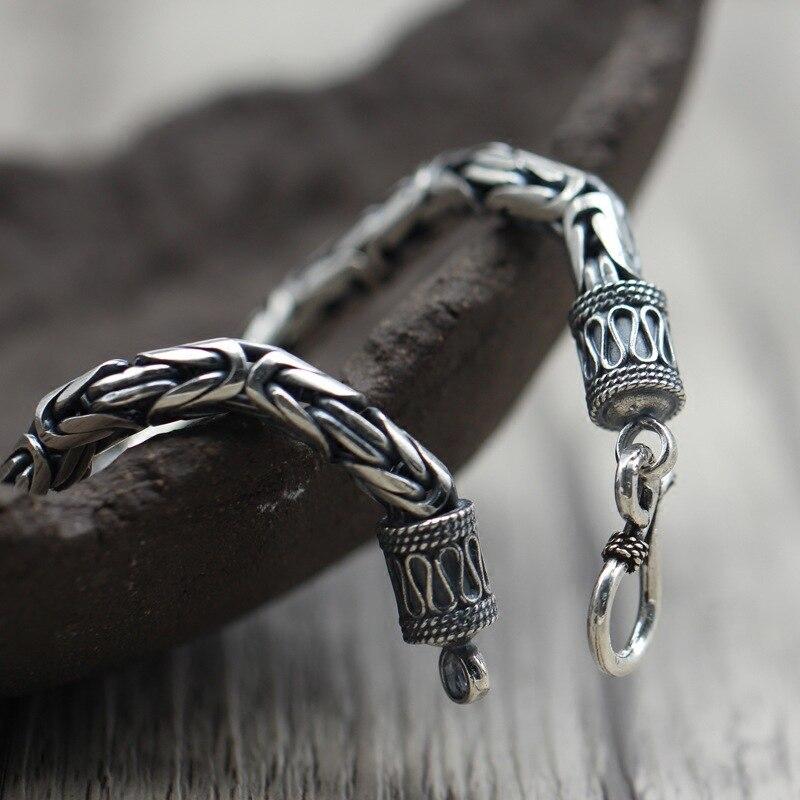 Thai argent personnalité Simple hommes femmes Dragon Bracelet rétro classique sculpté classique en argent Sterling 925 sûr modèle Bracelet