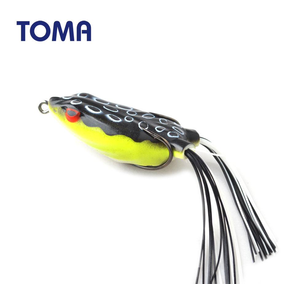 3pcs Frog Hard Fishing Lure Topwater Bass Baits Artificial Lures with Hook