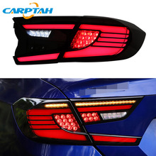 цена на Car LED Taillight Tail Lights For Honda Accord 10 2018 2019 Rear Lamp DRL + Dynamic Turn Signal + Reverse Light + Brake LED