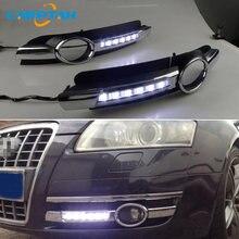 2 pçs para audi a6 c6 2005 2006 2007 2008 led luz de circulação diurna luz indicadora para carros 12v led drl