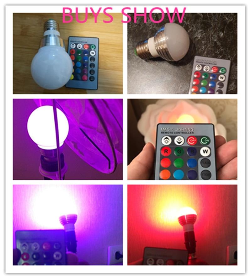 Image 5 - E27 E14 LED 16 Color Changing RGB Magic Light Bulb Lamp 85 265V 110V 120V 220V RGB Led Light Spotlight + IR Remote Control-in LED Bulbs & Tubes from Lights & Lighting