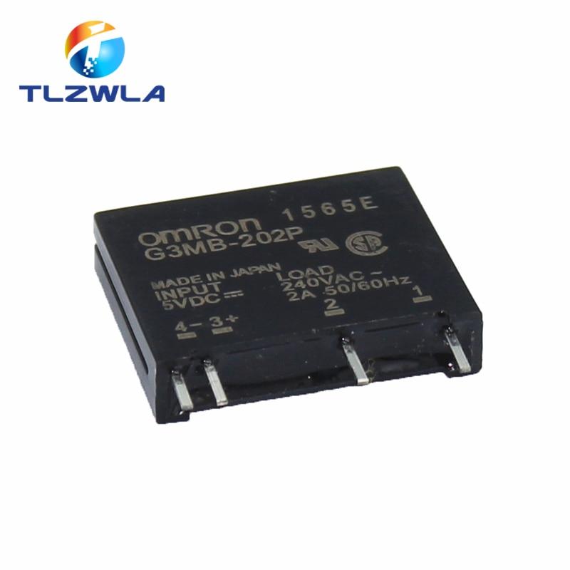 1 шт. 5 в 12 В 24 В DC-AC твердотельный релейный модуль G3MB-202P G3MB 202P PCB SIP SSR AC 240 В 2A плотное реле резистора