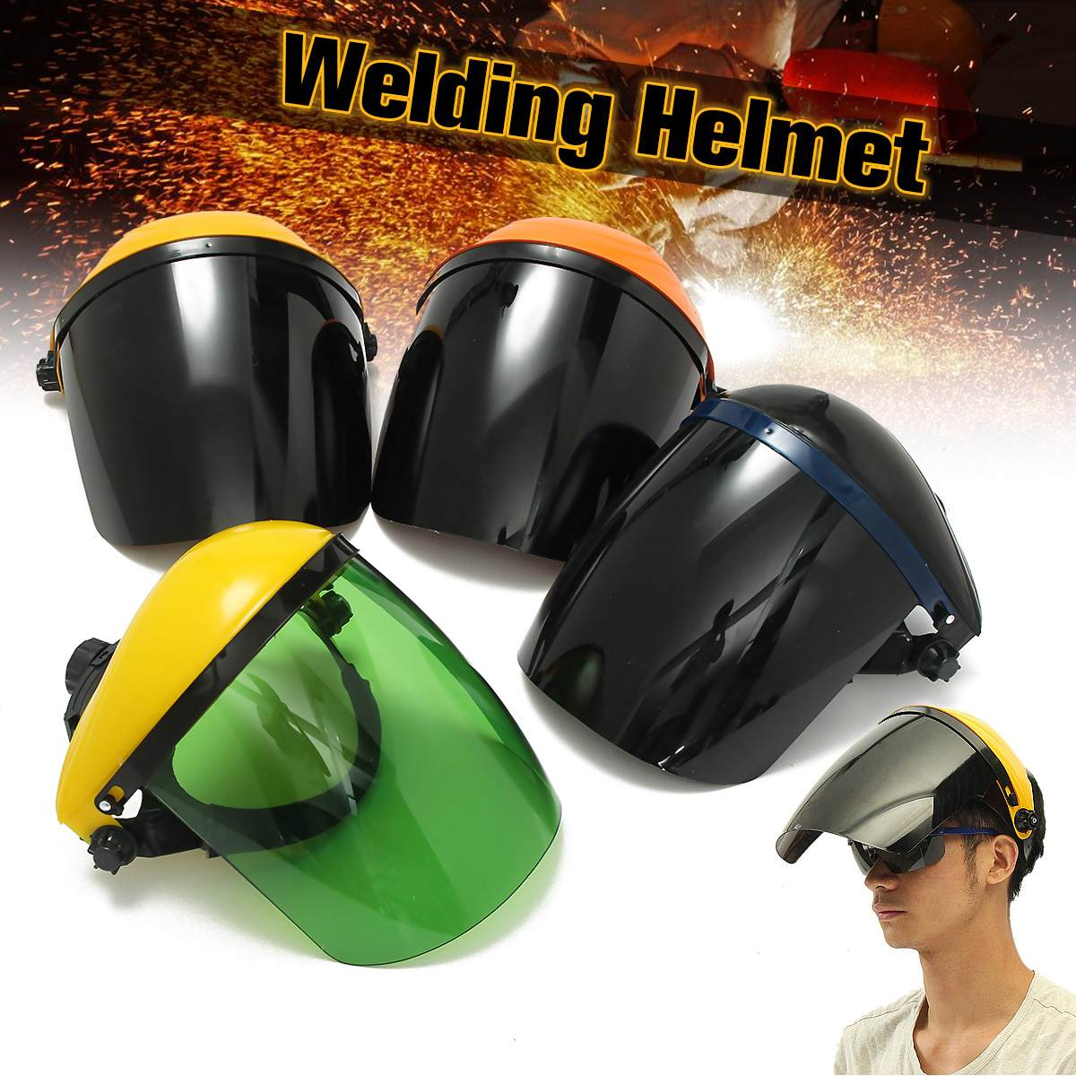 ARC Welding Mask Adjustable Welding Helmet Eye Protection For Welder Working Scratch Resistant With Safety Goggles