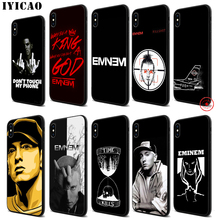 IYICAO Eminem 8 Mile Soft Black Silicone Case for iPhone 11 Pro Xr Xs Max X or 10 8 7 6 6S Plus 5 5S SE цена