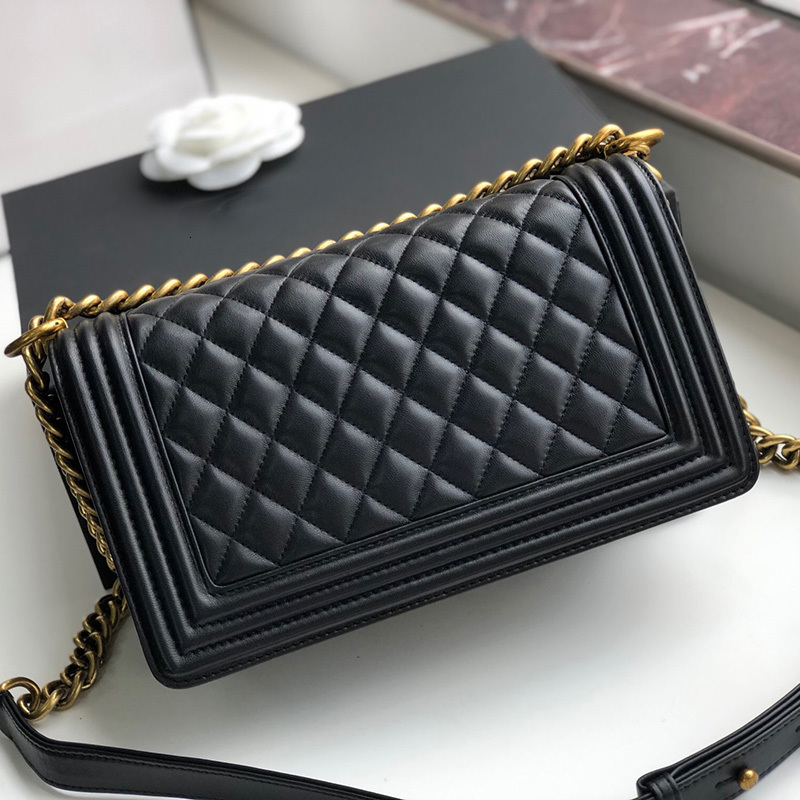 2020 High quality leather wallet for women luxury leather bag caviar label designer leather bag chain robber bag