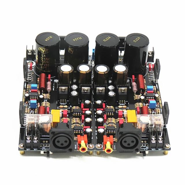 2020 LM3886 XRL 완전 밸런스 파워 앰프 보드 120W + 120W HiFi 스테레오 2 채널 완성 보드