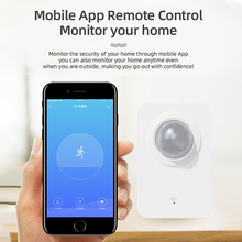 Tuya PIR Motion Sensor WiFi for Smart Life Infrared Passive Detection, Security Alarm System Detector Remote Work With Alexa